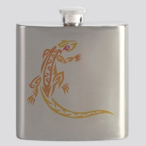 lizard_1 orange 8x7_ Flask